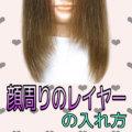 【顔周りの毛 レイヤー 切り方】骨格理論で前髪なしで似合わせヘアカット。動画付き#横浜#鶴ヶ峰#上手い#美容師#得意#美容室#ヘアサロン
